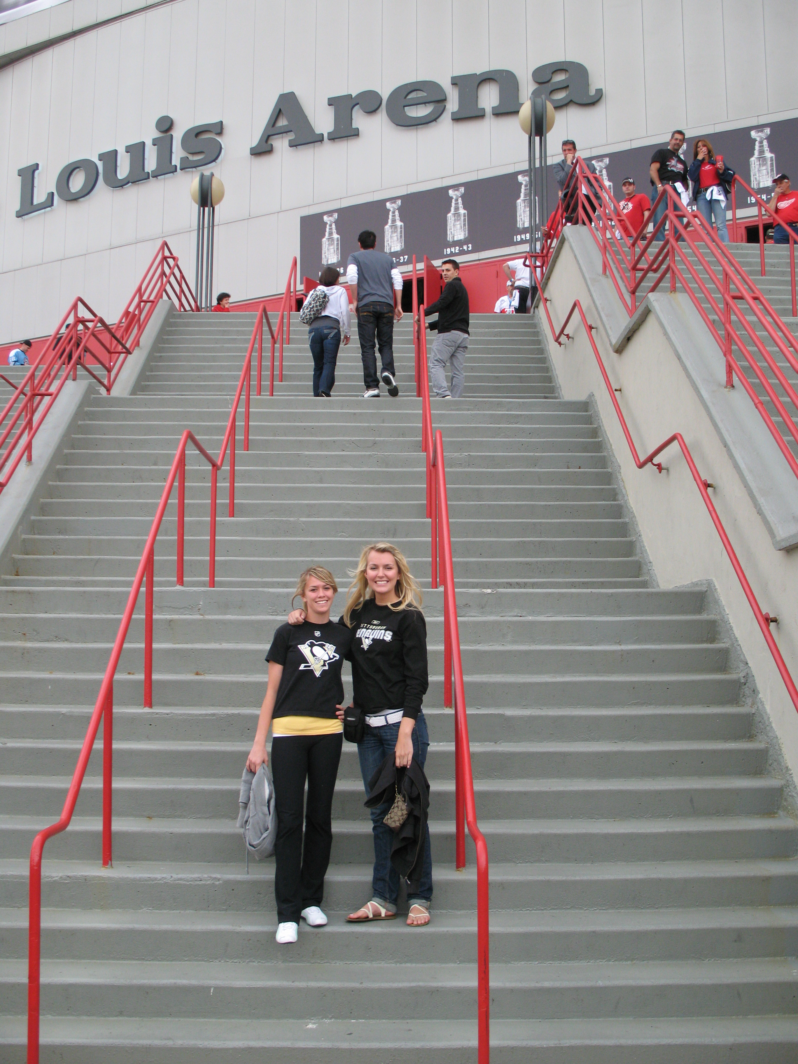 Outside Joe Louis Arena