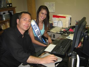 Rob Campbell and Miss Teenage Canada 2009