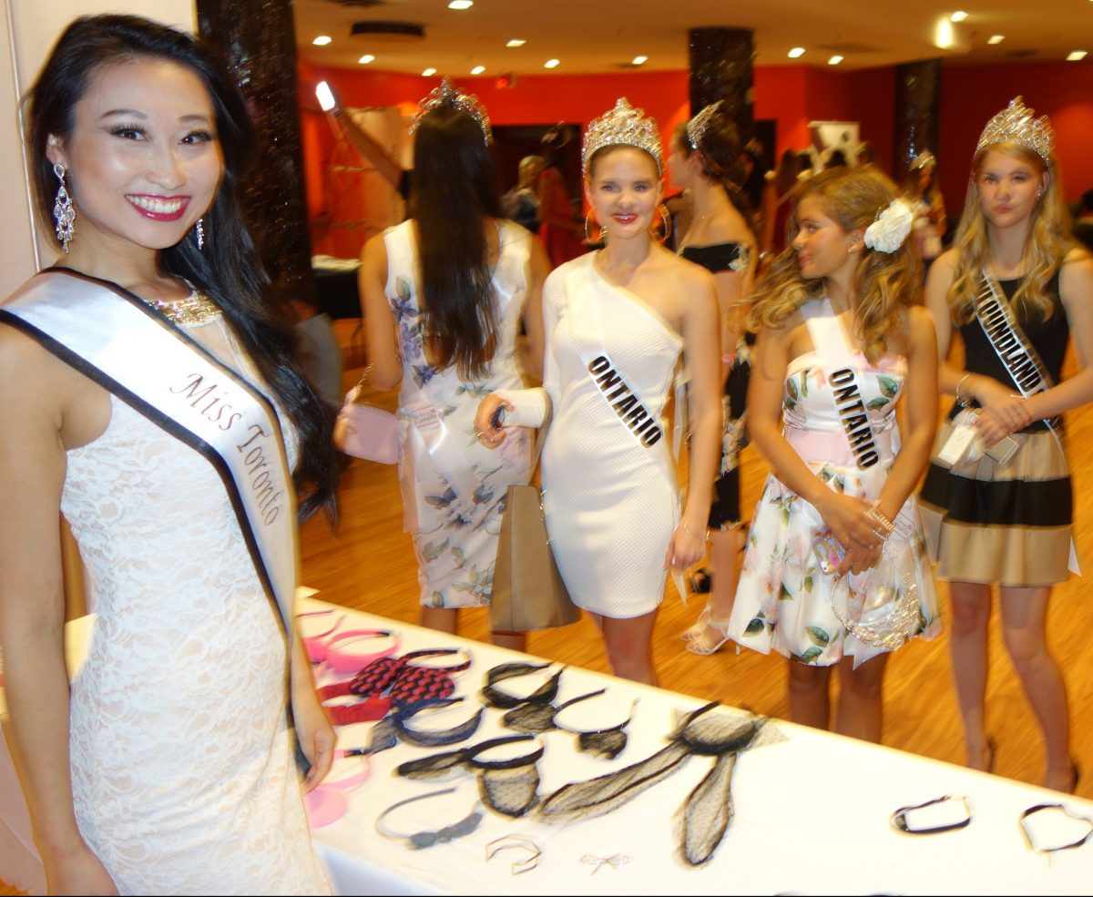 Alice Li at Super Adorbs fashion accessories booth