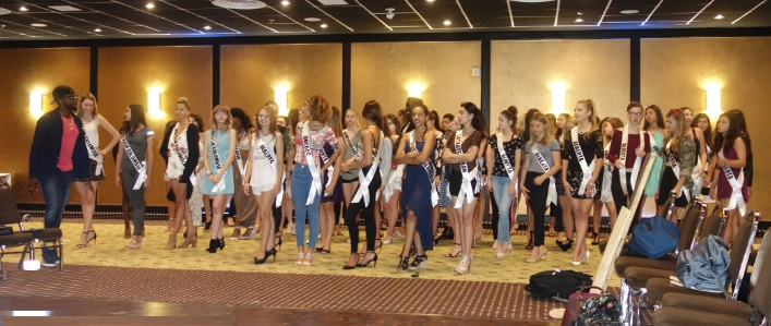 learning how to dance at Miss Teenage Canada competition in Toronto