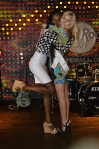 Shanice Toussaint and I at the Hard Rock Cafe