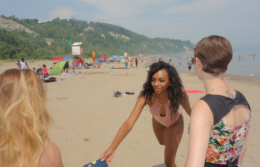 Miss teen Canada delegates at Bluffers Beach in Toronto